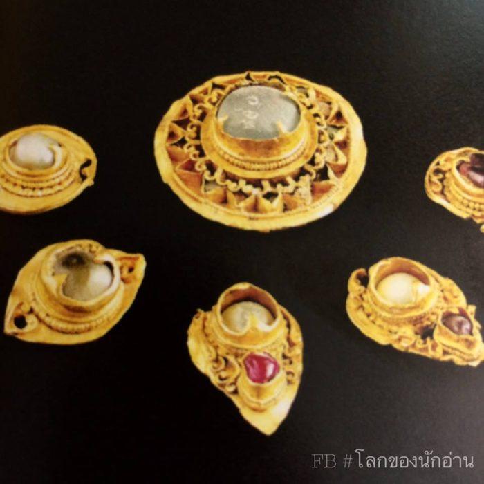 ส่วนประกอบของพระปรางค์จำลอง ทองคำ ศิลปะอยุธยา ได้จากกรุพระปรางค์วัดราชบูรณะ, อยุธยา